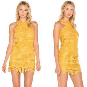 Lovers + Friends Yellow 'Caspian' Lace Dress